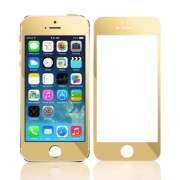 Захисне скло Full Screen Glass 2 in1 For Apple iPhone 5S Matte Gold (0.3mm)