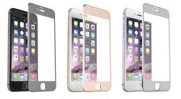 Захисне скло Full Screen Glass 2 in1 For Apple iPhone 6G Glossy Silver (0.3mm)