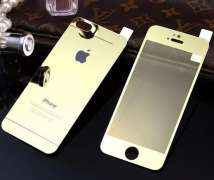 Захисне скло Full Screen Glass 2 in1 For Apple iPhone 4S Glossy Gold (0.3mm)